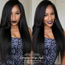 Cheap Top Quality Pretty Charming Ultra Long Coarse Italian Yaki Afro Full Lace Wigs 22inch