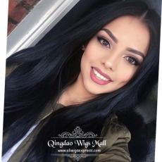 Cheap Long Straight Human Hair Lace Front Wigs Online In Australia 18inch