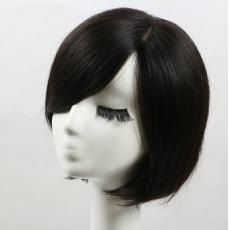 Women Silk Base Short Human Hair Toppers With Bangs Online