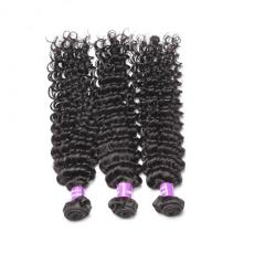 Gorgeous Black Coarse Deep Curly Indi Remy Remi Hair Bundles Weave 3pcs/Lot