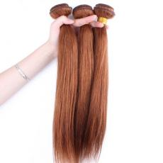 Strawberry Blonde Long Soft Straight 100 Human Hair Extensions For Short Hair 3pcs/Lot
