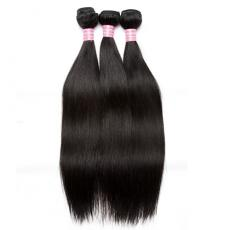 Holiday Hairstyle Soft Straight Malaysian Virgin Hair Extensions 3pcs/Lot For Teens