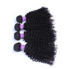 Black Women Kinky Curly Hair Weave Indian Remy Human Hair Wefts 4pcs/Lot