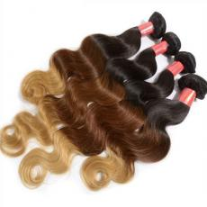 Pretty Charming Ombre 3 Tones Remy 6A Indian Human Hair Extensions Body Wave 4pcs/Lot