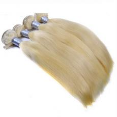 Top Quality Full Soft Straight Honey Blonde Remy 6A Indian Human Hair Extensions 4pcs/Lot