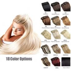 Amazing 7pcs Clip In Human Hair Extensions 6A Brazilian Virgin Hair 120g Colorful Weaves Soft Silky ...