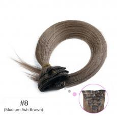 Asian Beauty Soft Straight Clip In Human Hair Extensions 6A Brazilian Virgin Human Hair Wefts Medium...