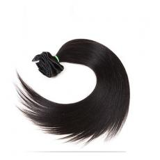 Attractive Soft Straight Clip In Human Hair Extensions 6A Indian Remy Human Hair Wefts Natural Black...