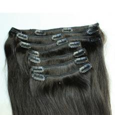 Gorgeous Long-Lasting Soft Straight Clip In Human Hair Extensions 6A Malaysian Virgin Hair Wefts