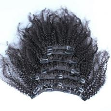 Cute Lovely Afros Curly Hair Dos Clip In Human Hair Extensions 6A Peruvian Virgin Hair Wefts