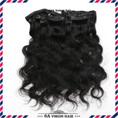 Awesome Deep Wave Clip In Human Hair Extensions 6A Indian Remy Hair Wefts For African Americans