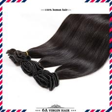 Glorious Chic Long Soft Full Straight Clip In Human Hair Extensions 6A Indian Remy Hair Wefts For Bl...