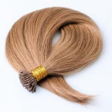 Cute Spring Honey Blonde Soft Straight Keratin I Tip Human Hair Extensions Pre Bonded Human Hair