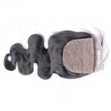 Glamorous 6A Remi Indian Hair Loose Body Wave Silk Base Closure Free Part
