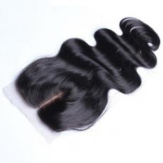 Pretty Charming Soft Loose Body Wave 6A Indian Remy Human Hair Silk Base Closure