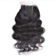 Super Charming Black Women Deep Wave 6A Virgin Brazilian Human Hair Silk Base Closure
