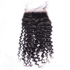 Fascinating Afros Kinky Curly 6A Virgin Brazilian Human Hair Lace Base Closure Free Part