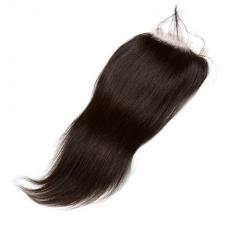 Spring Summer Full Soft Straight 6A Virgin Hair Lace Closure Free Side Part