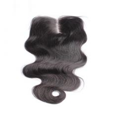 Cheap Loose Body Wave Remy Human Hair Swiss Lace Closure Middle Part