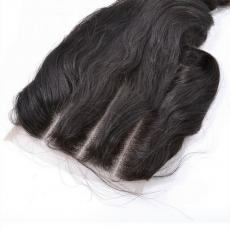 Glam Chic African American Women Loose Wave 6A Virgin Peruvian Human Hair Lace Base Closure