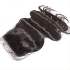2016 Latest Glam Body Wave 6A Virgin Peruvian Human Hair Lace Base Closure With Baby Hair