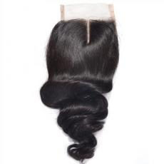 Classic Glam Waves African American 6A Virgin Peruvian Human Hair Lace Base Closure