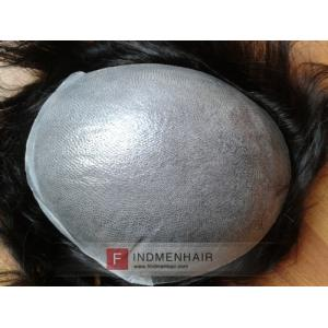 Super Quality PU Thin Skin Solid Black Short Mens Remy Hair Wigs