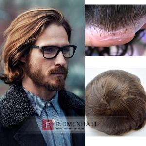 European Gent's Slicked-Back Mens Long Hair Wigs London