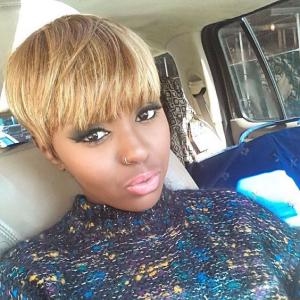 Blonde Short Cuts Capless Human Hair Wigs With Bangs For Black Girls