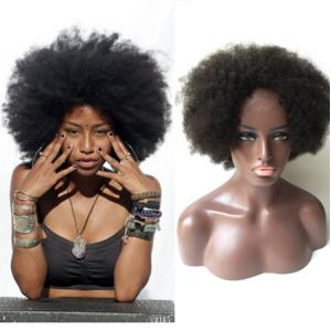 Beautiful Big Afros Natural Human Hair Wigs For Black Women