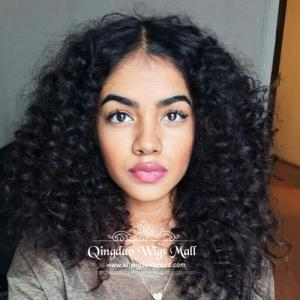 Serious Texture Deep Kinky Curly Afro 180 Density U Part Human Hair Wigs