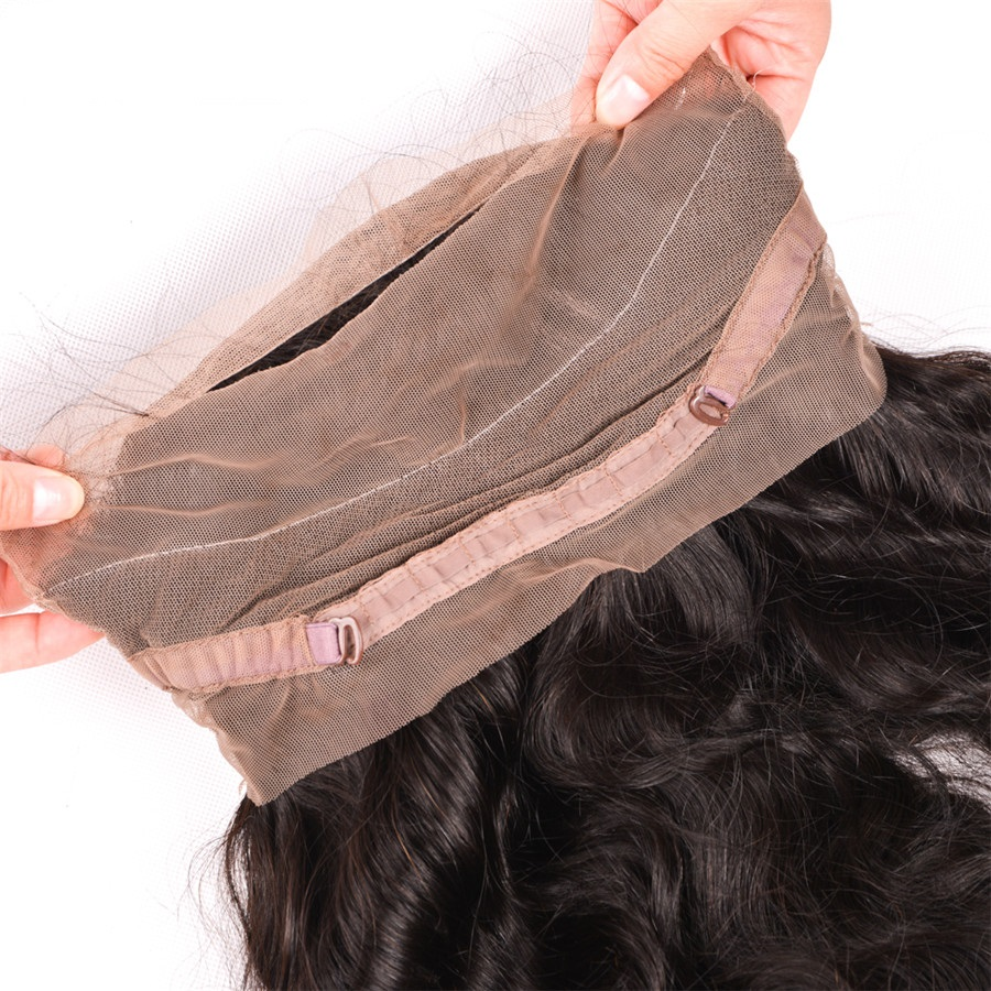 Pre Plucked 360 Lace Frontal Brazilian Body Wave Natural Hairline