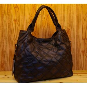 L handbag genuine leather 42cm