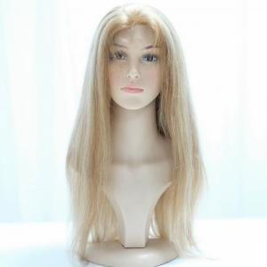 Natural Front Hairline Highlighted Blonde Human Hair Lace Front Wigs 613 27