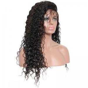 Deep Water Wave Curly Brazilian Virgin Hair Lace Front Wigs For Black Women