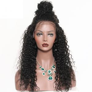 250% Density Lace Front Human Hair Wigs For Black Women Brazilian Curly