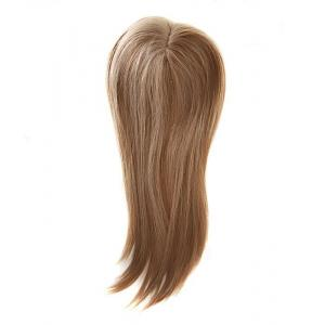 Golden Blonde 100 Remy Human Hair Toppers Wiglets For Thin Crown