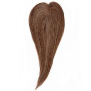 Dark Chocolate Brown 100 Remy Human Hair Toppers For Thin Crown 16inch
