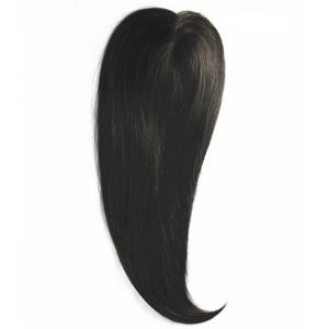Natural Black Color Remi Human Hair Toppers And Extensions Clips In