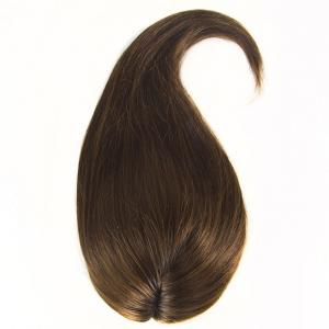 Rich Copper Brown Human Hair Toppers For Thin Crown 10-26 inch