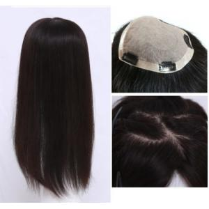 Realistic SILK TOP 100% human hair toppers Full Coverage Hair piece