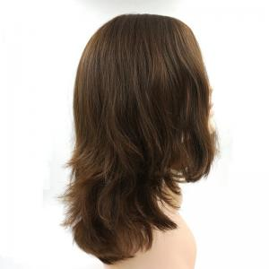High Quality Beautiful Full Wigs Dark Light Brown colour 6 8 European Sheitels