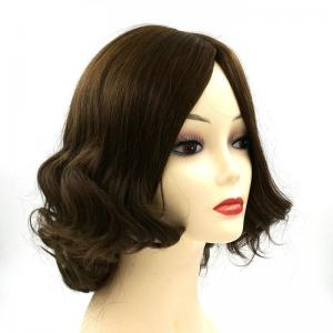 Silk skin top jewish kosher wig for jew short wavy layers bob 100 European remy hair
